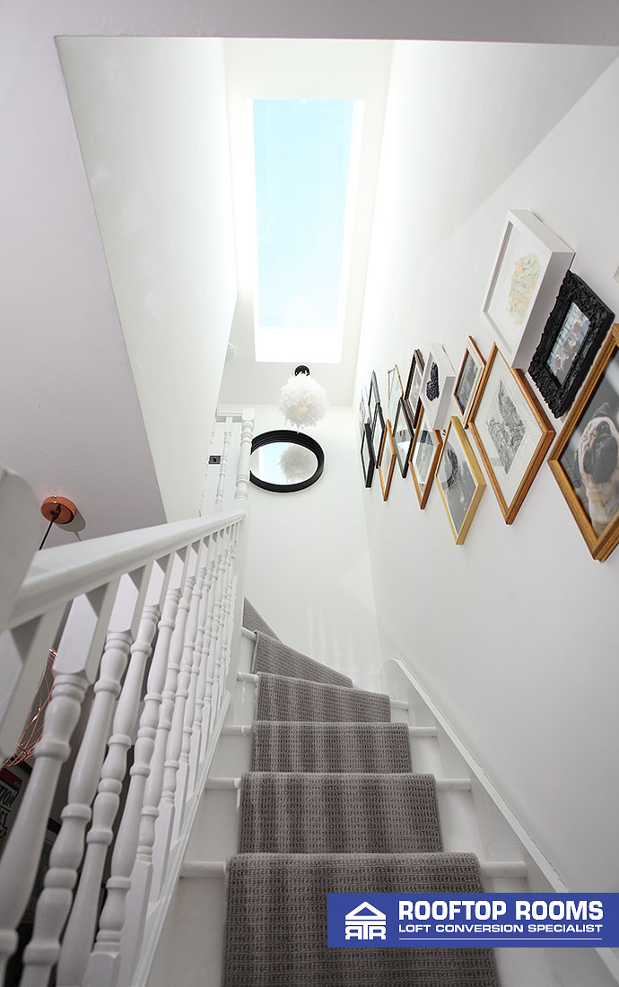 Dormer loft conversion staircase