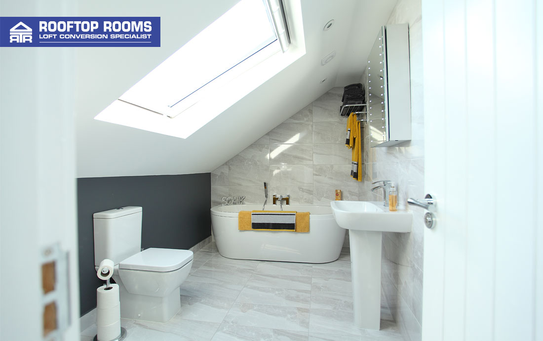 Bungalow loft conversion en suite bathroom
