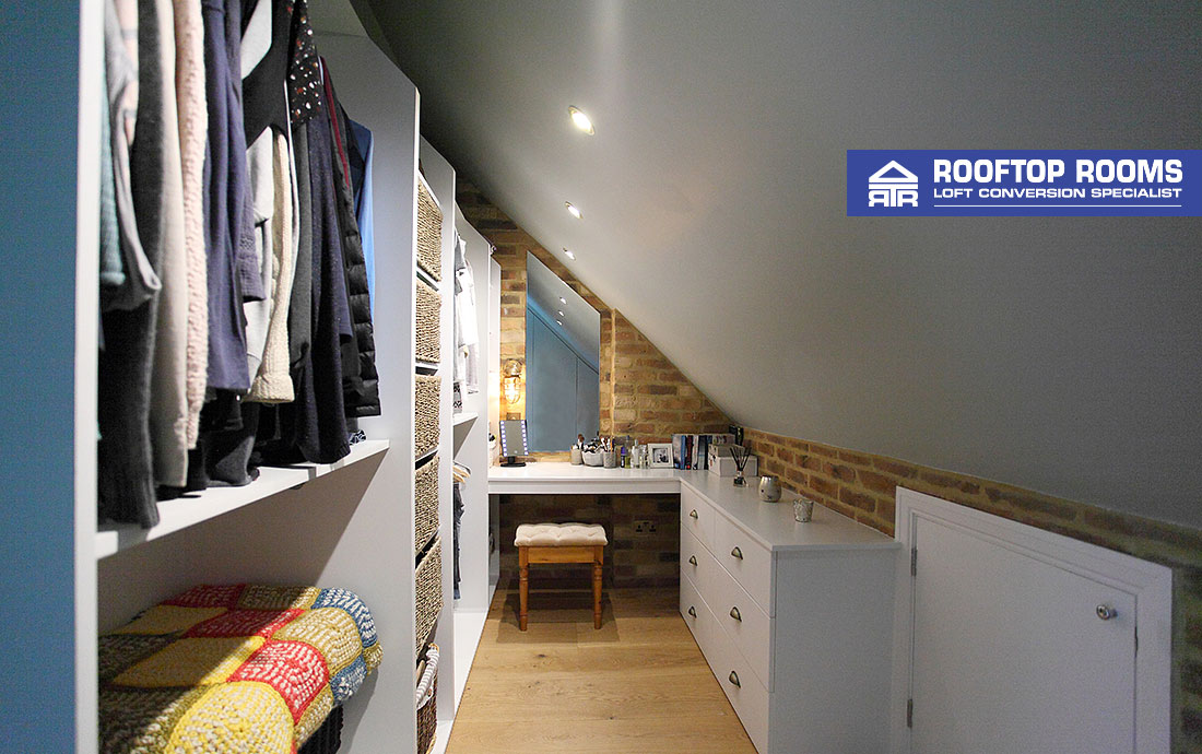 Hip to gable loft conversion storage