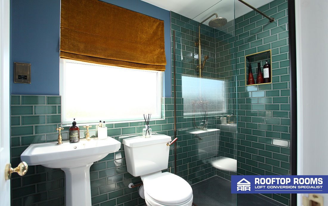 L-shaped dormer loft conversion bathroom