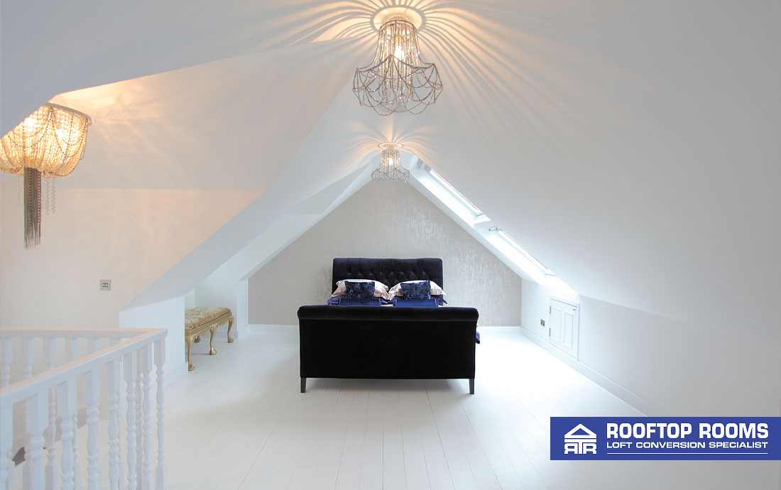 Loft conversion - detached house bedroom