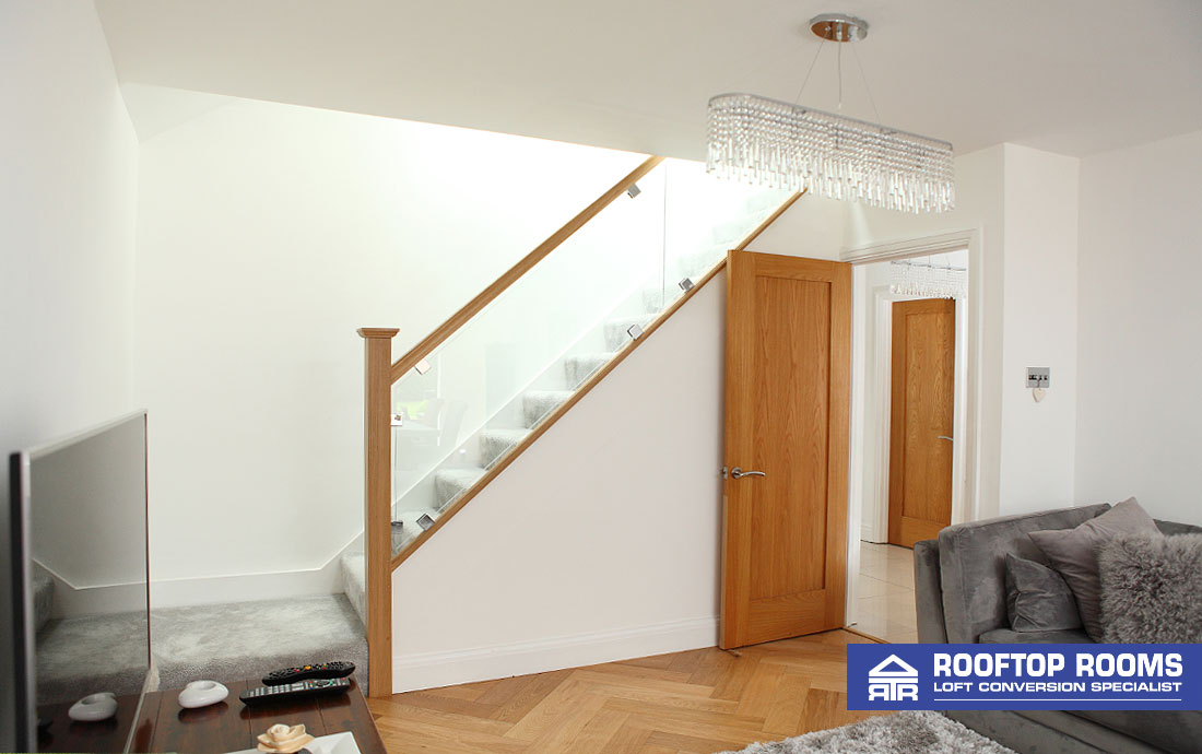 Loft conversion stairs to bedroom