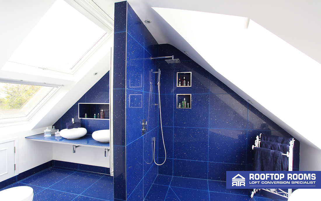 Loft conversion with walk-in en suite shower room